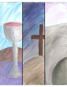 Triduum Triptych by Jo Nygard Owens used with permission