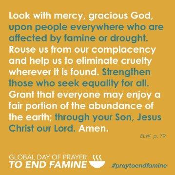 end famine elca