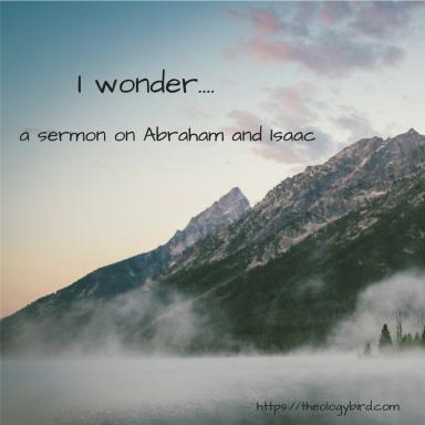 I wonder....
