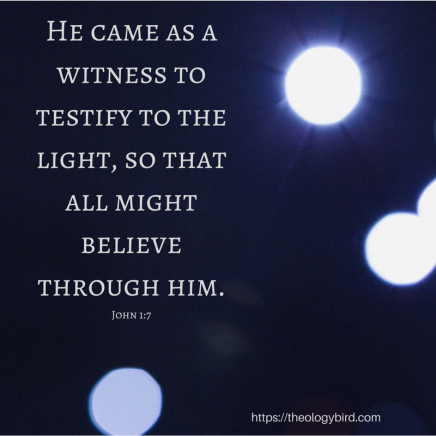He came as a witness