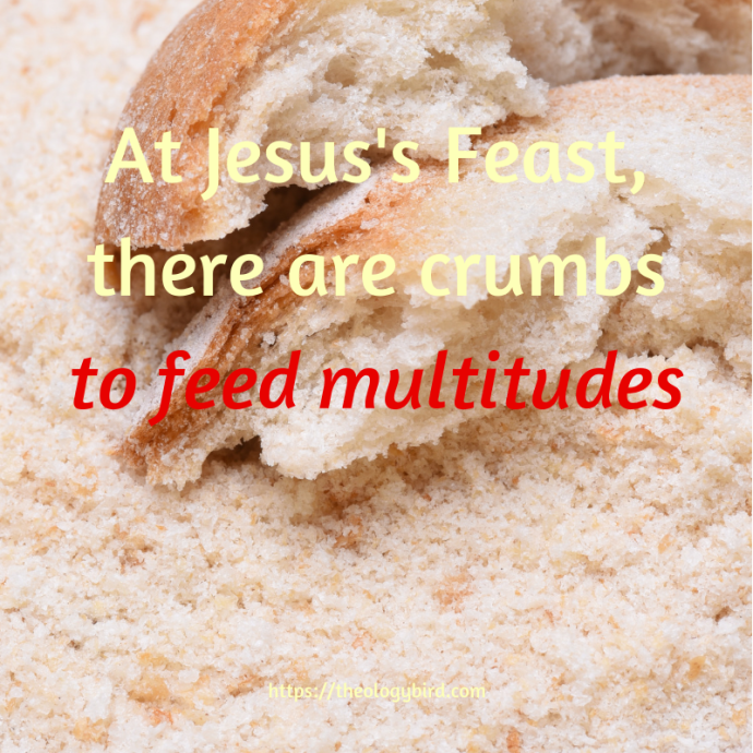 At Jesus's Feast, there are crumbs to feed multitudes