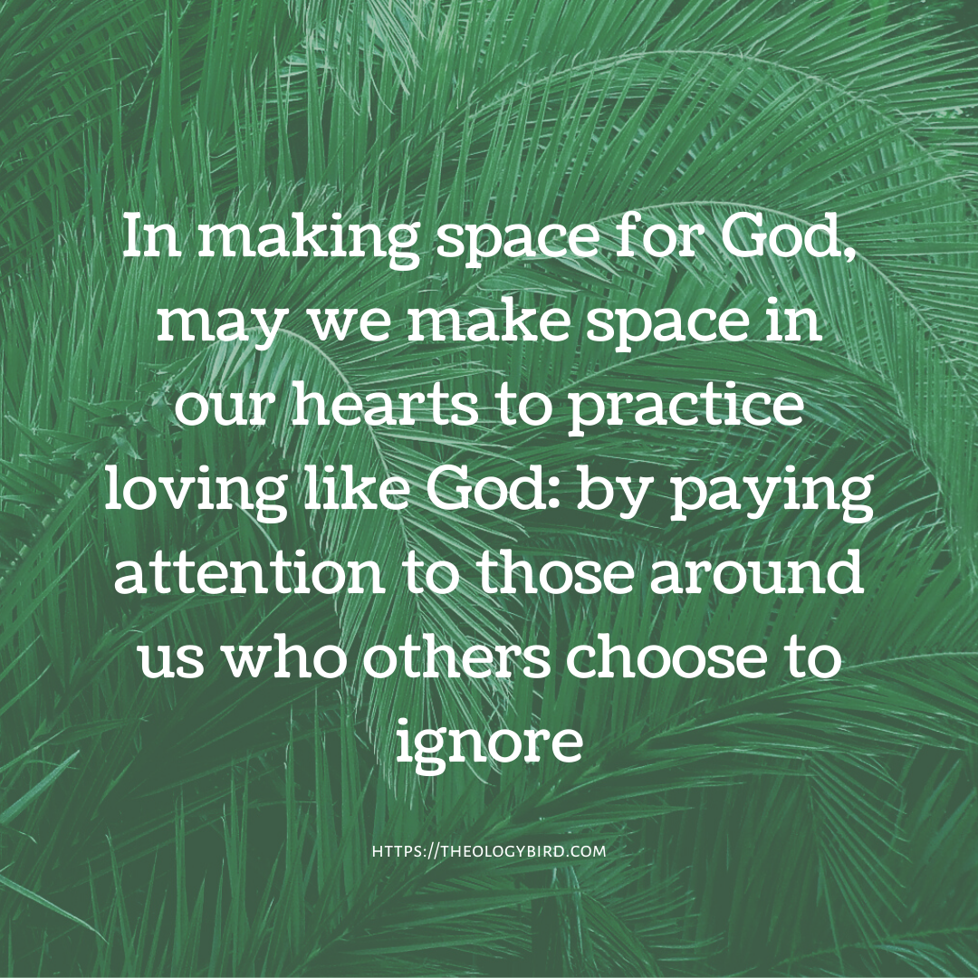 making space for God